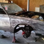 1987 Monte Carlo SS - The body getting taken down to bare metal.