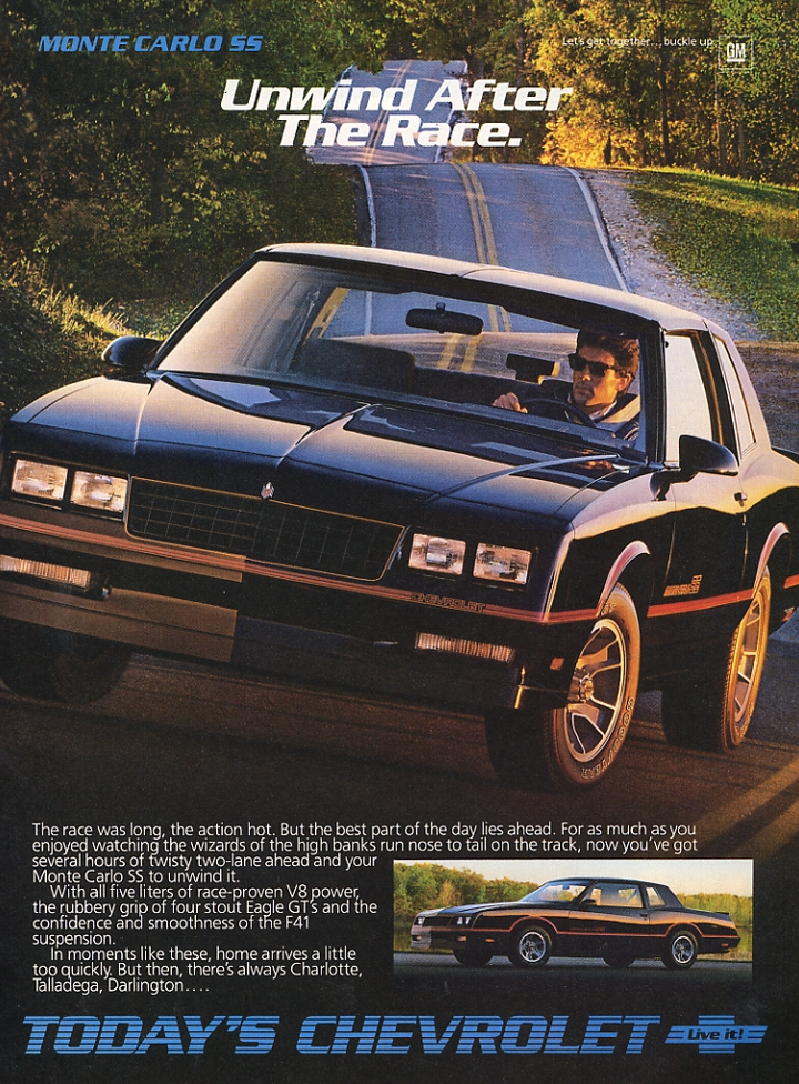 1986 Monte Carlo SS - Unwind After the Race