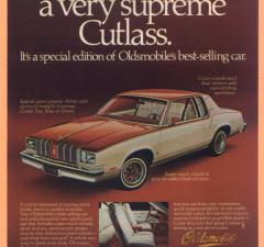 1978 Cutlass Supreme Ad